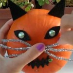 How to Decorate a Pumpkin as a Cat