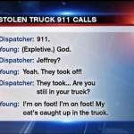 Truck Stolen With Cat as Man Sleeps in Back