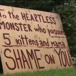 Woman's Sign Raises Awareness of Cat and Dog Poisonings, Prompts Warnings