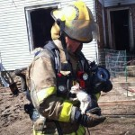 Kalamazoo Firefighter Rescues Kitten From House Fire