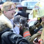 Firefighter Reunites Woman With Her Kitten After House Fire