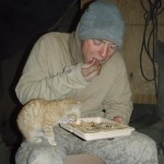 Soldier Shares a Meal With a Kitten in Afghanistan