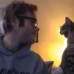 Bonding With His Cat