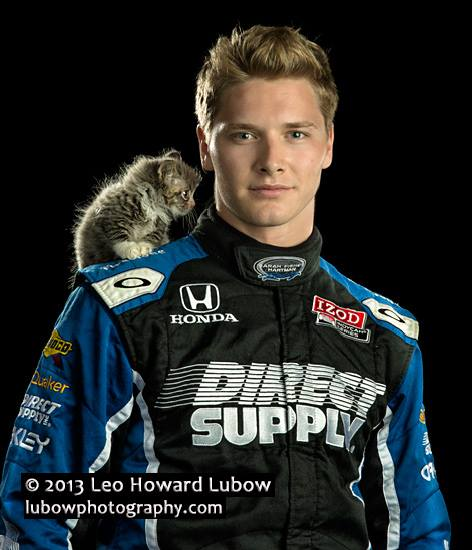 Indycar Driver Adopts Kitten From Anti-Abuse Photo Shoot
