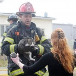 Firefighter Rescues Cat from 3rd Floor of Burning Home