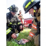 Firefighters Rescue and Revive Kitten at Mobile Home Fire