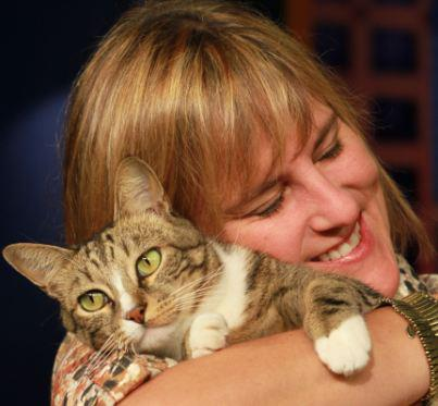 Joey with his petmom, THV Director of Media & Community Relations, Theba Lolley, in a photo from 2011.