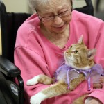 Mia the Tendercare kitty finds the purrfect home at assisted living facility
