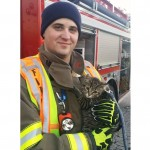 Kitten rescued by firefighter finds a home