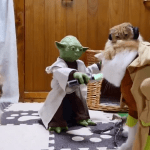Yoda Toy Trains Cats to Use the Force