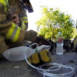 Amazing Rescue of Kitten by Firefighter Caught on GoPro