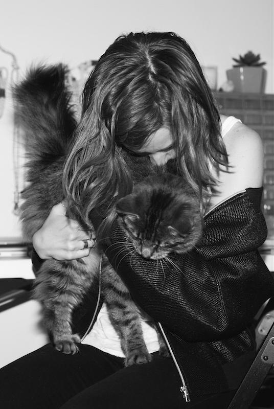 Girls and Their Cats Ryen and Hazel JPG