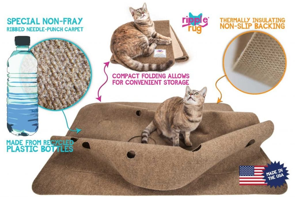 The Ripple Rug Puts Recycled Bottles to Work Entertaining Cats