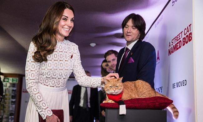 "Kate Middleton Attends ""Bob the Street Cat"" Film Premier"