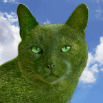 Topiary Cat Has His Own Holiday Card, And It's Beautiful