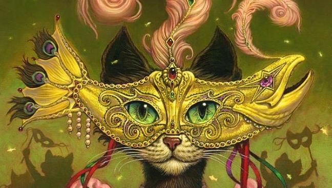 Celebration: Cats in Mardi Gras Glory