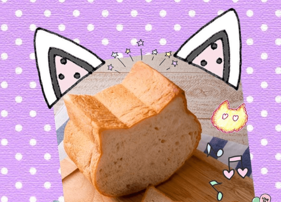 Bread With Kitty Ears Is Cat's Meow
