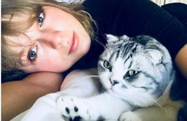 Taylor Swift Knows How to Chill…With Her Cat